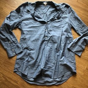 J. Crew Factory Chambray Button Up Tunic